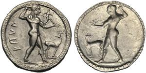 Bruttium, Stater, Kaulonia, c. 525-500 BC; ...