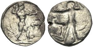 Bruttium, Stater, Kaulonia, c. 475-470 BC; ...