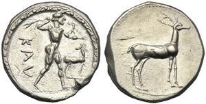 Bruttium, Stater, Kaulonia, c. 475-425 BC; ...