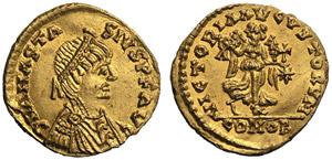 Anastasius I (491-518), Tremissis, ...