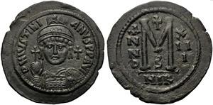 Justinian I (527-565), Follis, Nicomedia, AD ...