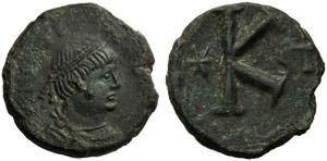 Justinian I (527-565), Half Follis, Roma, ...
