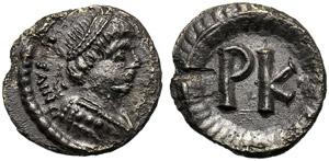 Justinian I (527-565), 120 Nummi, Ravenna, ...
