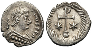 Justinian I (527-565), Half Siliqua, ...