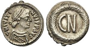 Justin II (565-578), 250 nummi, Ravenna, AD ...