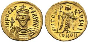 Phocas (602-610), Solidus, Constantinople, ...