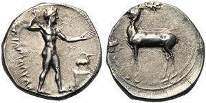 Bruttium, Stater, Kaulonia, c. 420-410 BC; ...