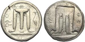 Bruttium, Stater, Kroton, c. 500-480 BC; AR ...