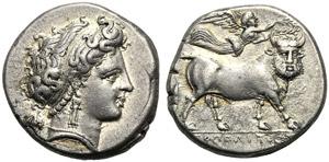 Campania, Didrachm, Neapolis, 320-300 BC; AR ...