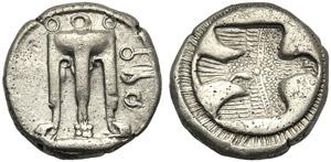 Bruttium, Stater, Kroton, c. 480-430 BC; AR ...