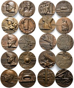 Kingdom of Italy, Series of 10 bronze ...