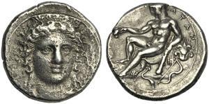 Bruttium, Stater, Kroton, c. 400-325 BC; AR ...