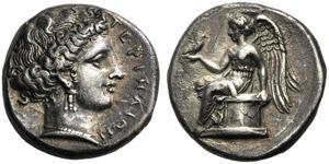 Bruttium, Stater, Terina, c. 300-356 BC; AR ...