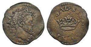 Italy, Napoli. Filippo II (1554-1598). Æ 2 ...