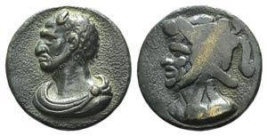 Attila the Hun (AD 406-453). Cast Æ Medal ...