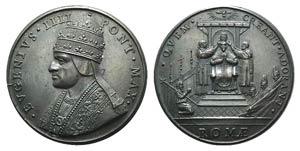Papal, Eugenio IV (1431-1447). Æ ...
