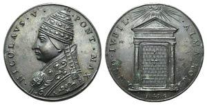 Papal, Niccolò V (1447-1455). Æ ...