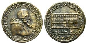 Papal, Paolo III (1534-1549). Æ Medal 1549 ...