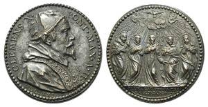Papal, Clemente X (1670-1676). Æ Medal 1671 ...