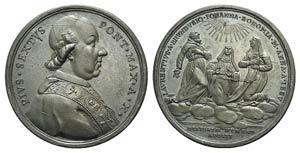 Papal, Pio VI (1775-1799). Æ Medal 1784 A X ...