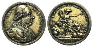 Papal, Pio VI (1775-1799). AR Medal 1791 A ...