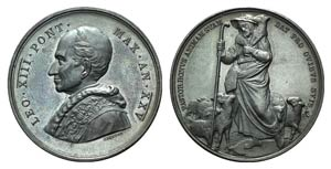 Papal, Leone XIII (1878-1903). Æ Medal 1902 ...
