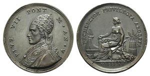 Papal, Pio VII (1800-1823). Æ Medal 1804 ...