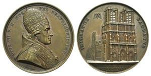 Papal, Pio VII (1800-1823). Æ Medal 1805 ...