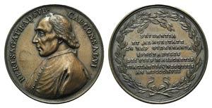 Papal, Pio VII (1800-1823). Æ Medal 1817 ...