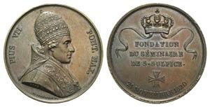 Papal, Pio VII (1800-1823). Æ Medal 1820 ...