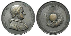 Papal, Gregorio XVI (1831-1846). Æ ...
