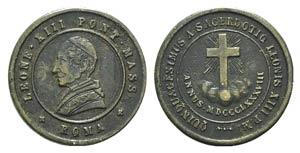 Papal, Leone XIII (1878-1903). Æ Medal 1888 ...