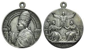 Papal, Pio XI (1922-1939). AR Medal 1929 ...