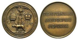 Papal, Pio XI (1922-1939). Æ Medal 1929 ...