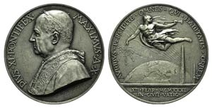 Papal, Pio XI (1922-1939). AR Medal 1931 ...