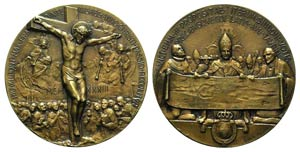 Papal, Pio XI (1922-1939). Æ Medal 1933 ...