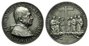 Papal, Pio XI (1922-1939). AR Medal 1934 ...