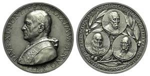 Papal, Pio XI (1922-1939). AR Medal 1937 ...