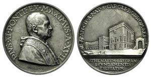 Papal, Pio XI (1922-1939). AR Medal 1938 ...