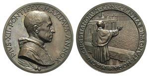 Papal, Pio XII (1938-1958). Æ Medal 1948 ...