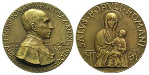 Papal, Pio XII (1938-1958). Æ Medal 1949 ...