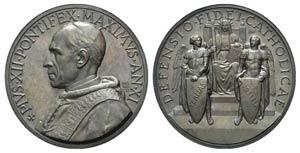 Papal, Pio XII (1939-1958). Æ Medal 1949 ...