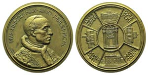 Papal, Pio XII (1939-1958). Æ Medal 1950 ...