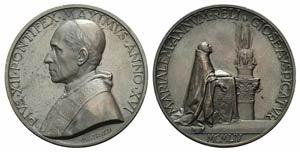 Papal, Pio XII (1939-1958). Æ Medal 1954 ...