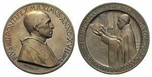 Papal, Pio XII (1939-1958). Æ Medal 1955 ...