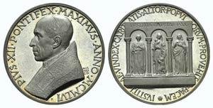 Papal, Pio XII (1939-1958). AR Medal 1956 ...