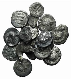 Magna Graecia, lot of 17 AR fractions, to be ...