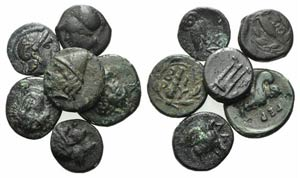 Asia Minor, lot of 6 Æ coins, to be ...