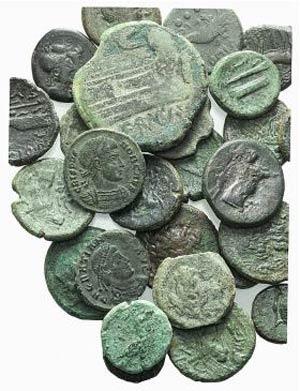 Lot of 28 Æ coins, mostly Greek, including ...