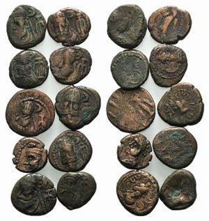 Elymais, lot of 10 Æ coins, to be catalog. ...